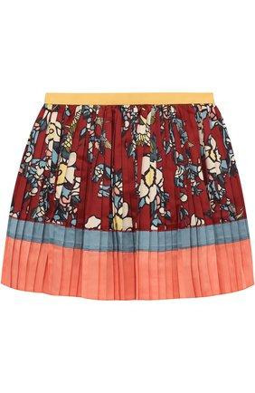 Плиссированная юбка с принтом | Фото №1