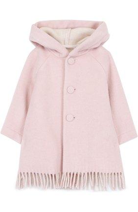 Пальто с капюшоном и бахромой | Фото №1