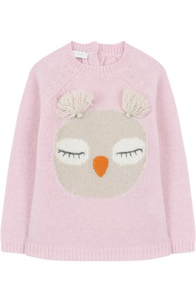 Шерстяной свитер с декором   Фото №1