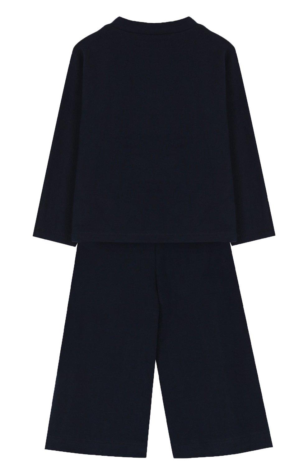 Детский хлопковый костюм с принтом IL GUFO синего цвета, арт. A17DP2STM0019/5A-8A | Фото 2