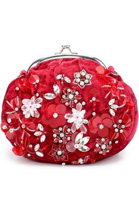 Текстильная сумка с декоративной вышивкой пайетками и кристаллами | Фото №1
