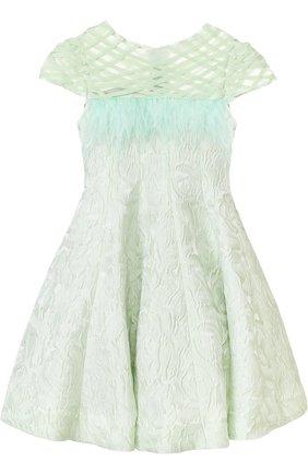 Приталенное платье с декоративной отделкой | Фото №1