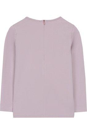 Детская хлопковая блуза с декоративной вышивкой Quis Quis розового цвета | Фото №1
