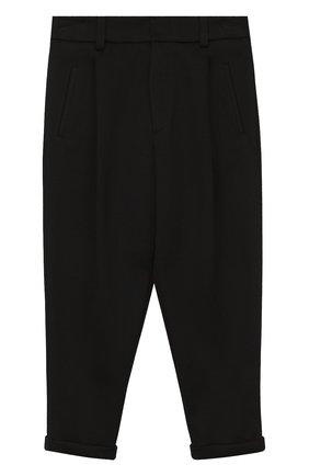 Хлопковые брюки с отворотами | Фото №1