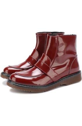 Лаковые ботинки с перемычкой | Фото №1