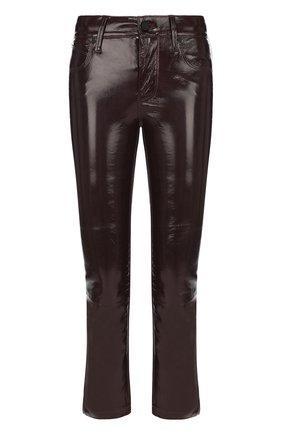 Укороченные кожаные брюки | Фото №1