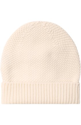 Кашемировая шапка фактурной вязки Barrie серого цвета | Фото №1