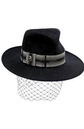 Вечерняя фетровая шляпа с декором | Фото №1