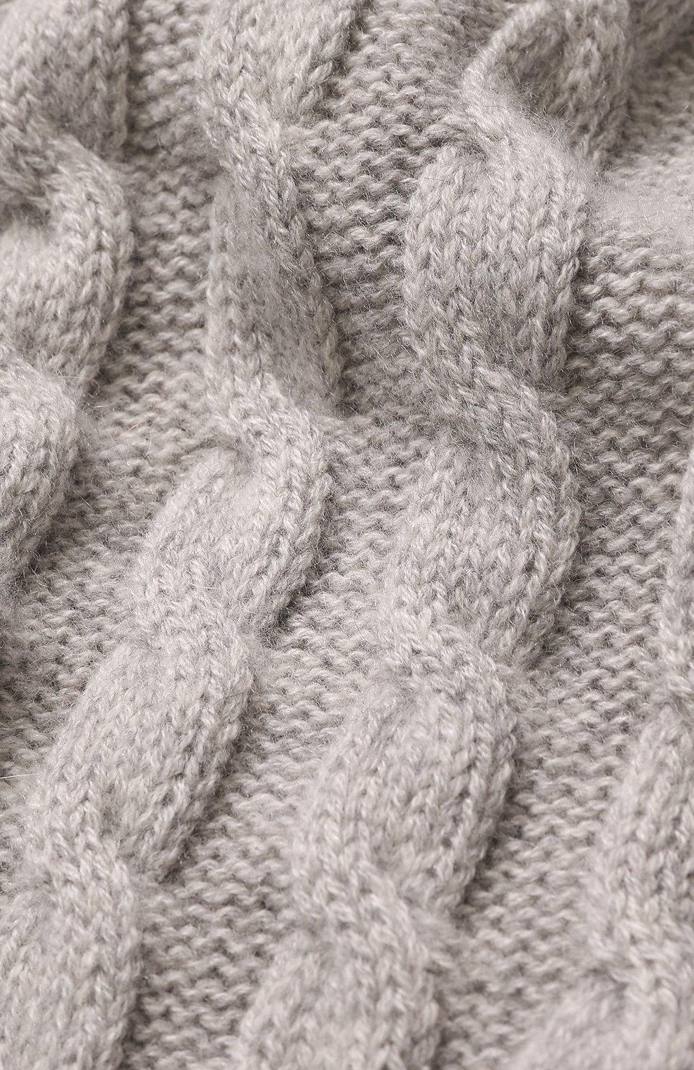 Кашемировый шарф фактурной вязки | Фото №2