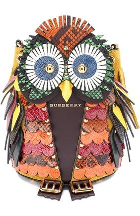 Сумка The Owl с отделкой из кожи ящерицы | Фото №1