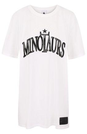 Хлопковая футболка с аппликацией NikeLab белая   Фото №1