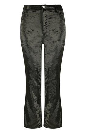 Укороченные бархатные брюки | Фото №1