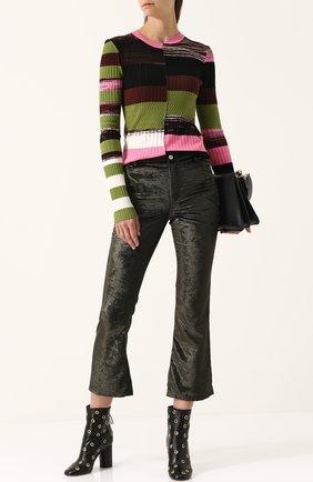 Облегающий пуловер с круглым вырезом и длинным рукавом Opening Ceremony разноцветный | Фото №1