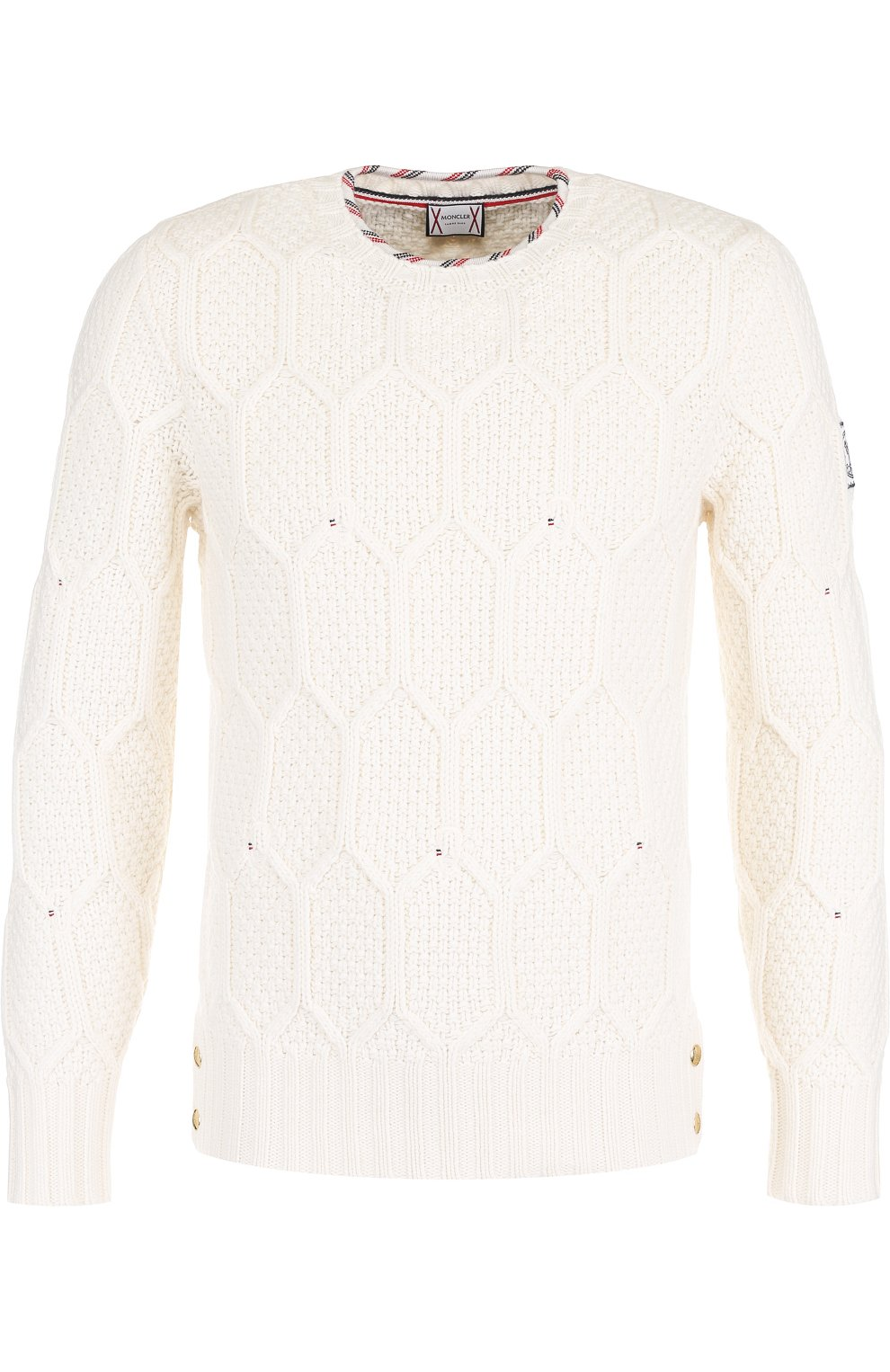 Шерстяной свитер фактурной вязки | Фото №1