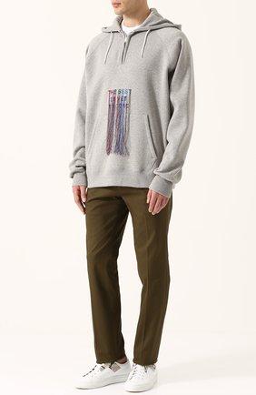 Хлопковое худи с контрастной вышивкой | Фото №2