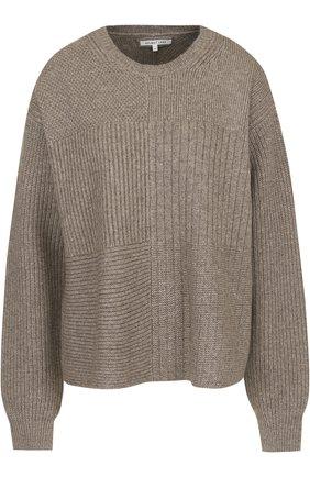 Шерстяной свитер свободного кроя с круглым вырезом | Фото №1