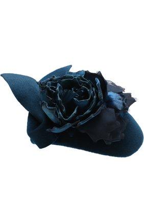 Вечерняя шляпа с декором в виде цветка | Фото №1