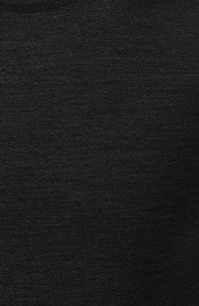 Шерстяной лонгслив с круглым вырезом | Фото №5
