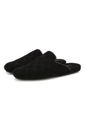 Мужского домашние замшевые туфли HOMERS AT HOME черного цвета, арт. 17323/ANTE | Фото 1
