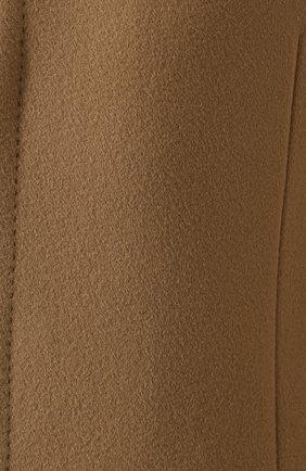 Однобортное пальто из смеси шерсти и кашемира  Dolce & Gabbana бежевого цвета | Фото №5