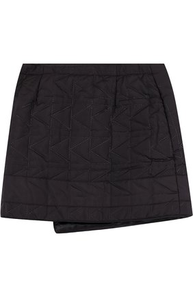 Стеганая мини-юбка с косой молнией | Фото №2