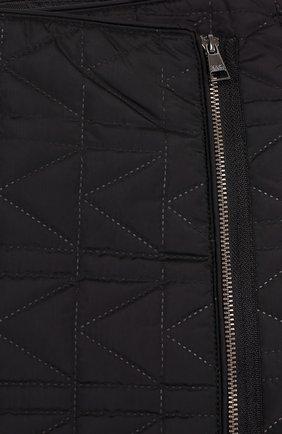 Стеганая мини-юбка с косой молнией | Фото №3