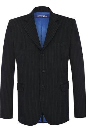 Однобортный приталенный пиджак Junya Watanabe серый | Фото №1