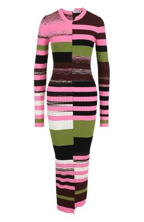 Вязаное платье-футляр с длинным рукавом | Фото №1