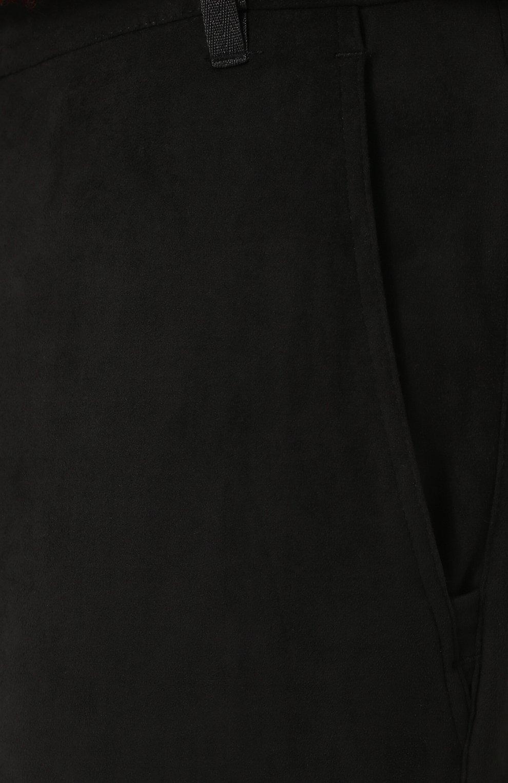 Укороченные брюки прямого кроя с манжетами Diesel черные   Фото №5