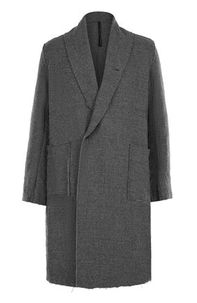 Однобортное шерстяное пальто с шалевым воротником   Фото №1