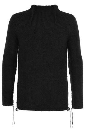 однотонный шерстяной свитер | Фото №1