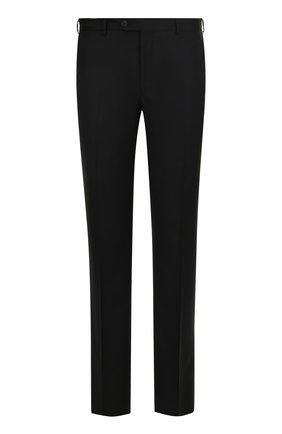 Шерстяные брюки прямого кроя  Pal Zileri черные   Фото №1
