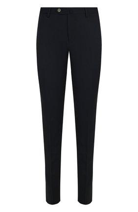 Шерстяные брюки прямого кроя PT01 темно-синие | Фото №1