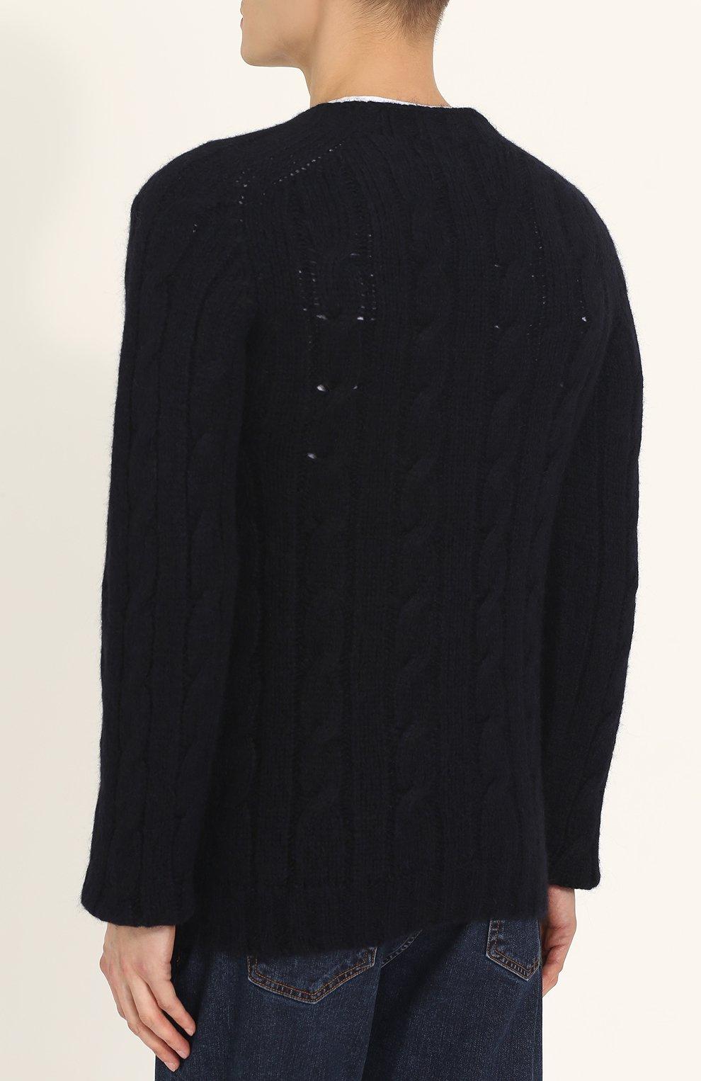Шерстяной свитер фактурной вязки | Фото №4