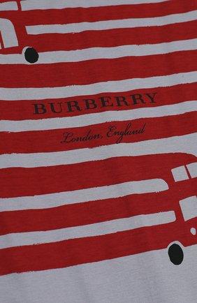 Детский хлопковая пижама с принтом BURBERRY серого цвета, арт. 4059555   Фото 3