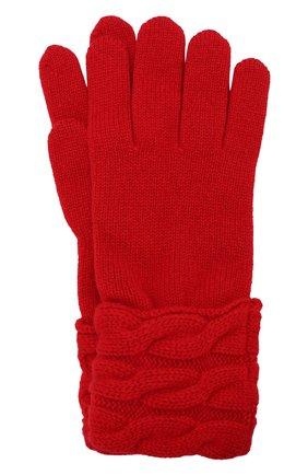 Вязаные перчатки из кашемира Kashja` Cashmere черные   Фото №1