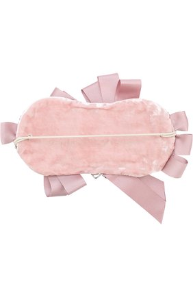 Повязка на голову с бантами и стразами Quis Quis розового цвета | Фото №1