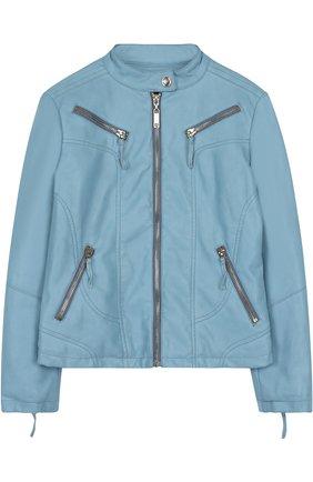 Куртка с декоративными молниями и воротником-стойкой | Фото №1