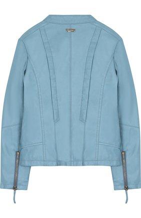 Куртка с декоративными молниями и воротником-стойкой | Фото №2