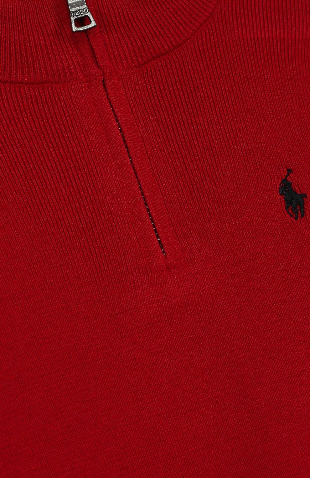 Вязаный свитер с логотипом бренда и воротником на молнии   Фото №3