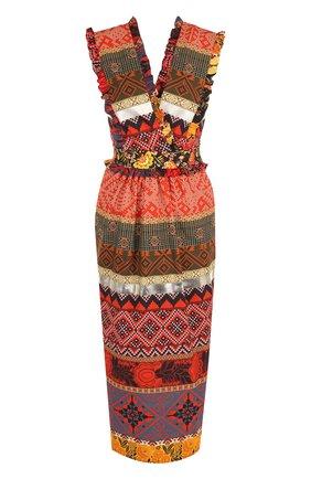 Приталенное хлопковое платье-миди | Фото №1