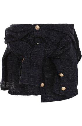 Мини-юбка асимметричного кроя Faith Connexion черная | Фото №1