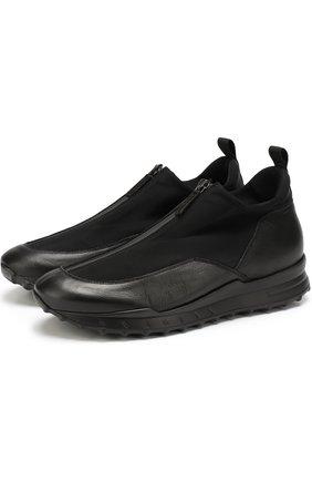 Комбинированные кроссовки на молнии | Фото №1