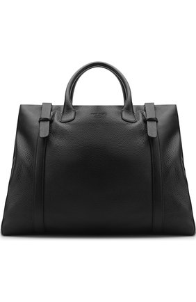 Мужская кожаная дорожная сумка GIORGIO ARMANI черного цвета, арт. Y2Q133/YAS6J | Фото 1