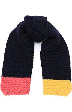 Шерстяной шарф фактурной вязки | Фото №1