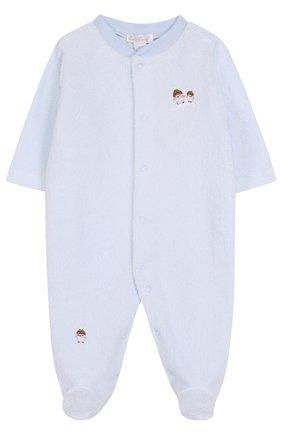 Хлопковый комбинезон с вышивками | Фото №1