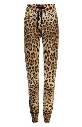 Кашемировые джоггеры с леопардовым принтом | Фото №1