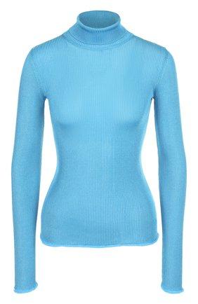 Облегающая водолазка фактурной вязки Missoni голубая | Фото №1