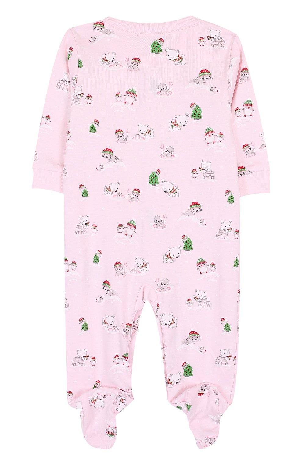 Детский хлопковая пижама с принтом KISSY KISSY розового цвета, арт. F17434-205P   Фото 2