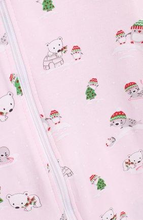 Детский хлопковая пижама с принтом KISSY KISSY розового цвета, арт. F17434-205P   Фото 3